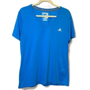 Adidas Blue Ultimate V neck Tee Shirt XL